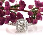 1.76ct Cushion Brilliant Diamond Engagement Ring