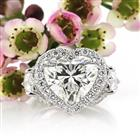 5.91ct Heart Shaped Diamond Engagement Ring