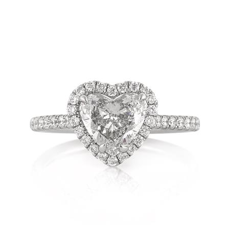 1 84ct Heart Shaped Diamond Engagement Ring
