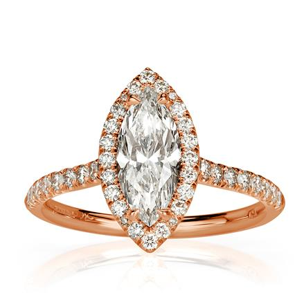 1 53ct Marquise Cut Diamond Engagement Ring