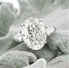 5.83ct Oval Cut Diamond Three-Stone Engagement Ring