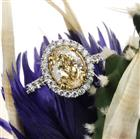 1.80ct Fancy Yellow Oval Cut Diamond Engagement Ring