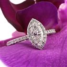 1.67ct Marquise Cut Diamond Engagement Ring