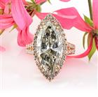 9.68ct Marquise Cut Diamond Engagement Ring