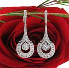 1.65ct Round Brilliant Cut Diamond Dangle Earrings