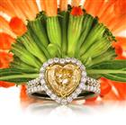 3.05ct Fancy Yellow Heart Shaped Diamond Engagement Ring