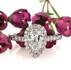 2.17ct Pear Shaped Diamond Engagement Ring