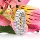 3.00ct Emerald Cut Diamond Eternity Band