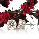 6.62ct Round Brilliant Cut Diamond Stud Earrings