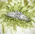 2.12ct Princess Cut Diamond Engagement Ring
