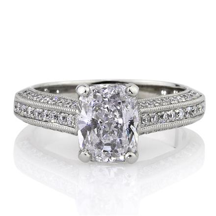 2.68ct Cushion Cut Diamond Ring | Mark Broumand