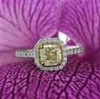 1.74ct Fancy Light Yellow Radiant Cut Diamond Engagement Ring