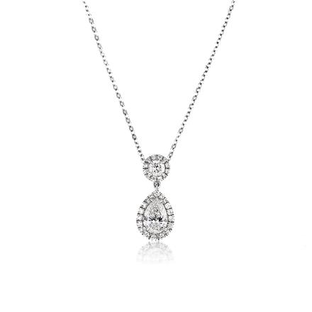 pear pendant carat shaped diamond