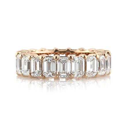 ring gold white and stackable eternity rings band bands gemstone pid emerald diamond