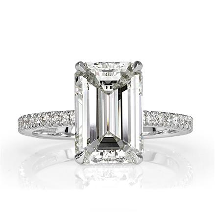 1d685ccdfce876 4.41ct Emerald Cut Diamond Engagement Ring