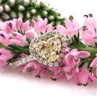 1.82ct Fancy Yellow Heart Shaped Diamond Engagement Ring