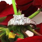 2.95ct Princess Cut Diamond Engagement Ring