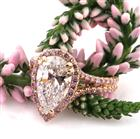 4.02ct Pear Shaped Diamond Engagement Ring