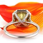 3.15ct Fancy Intense Yellow Radiant Cut Diamond Engagement Ring