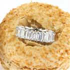 7.80ct Emerald Cut Diamond Eternity Band in Platinum