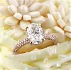 3.36ct Oval Cut Diamond Engagement Ring