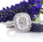 5.36ct Cushion Cut Diamond Engagement Ring