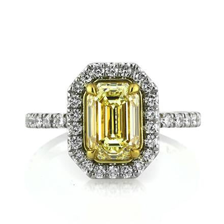 by cut band with unique wedding yellow gold princess emerald vidarjewelry ring shop mens