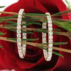 2.65ct Round Brilliant Cut Diamond Hoop Earrings in 18k Rose Gold