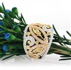 1.80ct Fancy Color and Diamond Right-Hand Ring