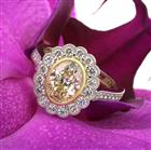 3.09ct Fancy Yellow Oval Cut Diamond Engagement Ring