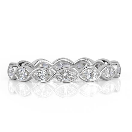 platinum pave band bands set white gold diamond wedding eternity in bezel wb petite