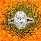 2.87ct Oval Cut Diamond Engagement Ring