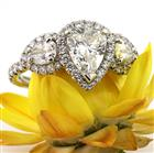3.25 Pear Shaped Diamond Engagement Ring