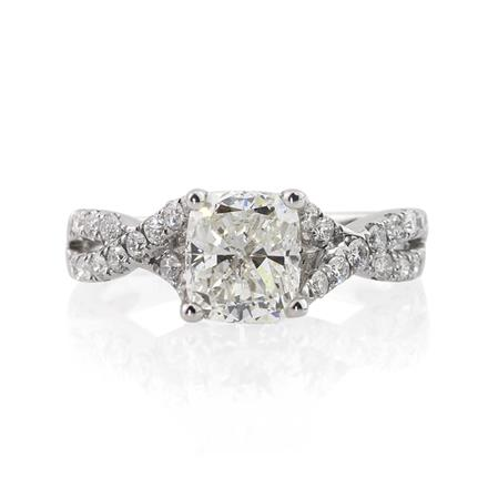 2.12ct Cushion Cut Diamond Ring | Mark Broumand