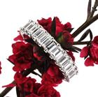 4.00ct Emerald Cut Diamond Wedding Band
