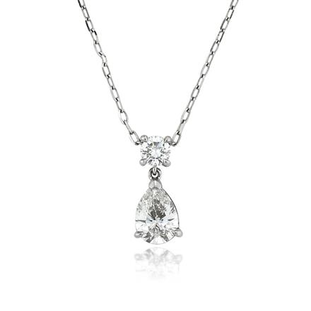 halo pendant double shaped pear with diamond