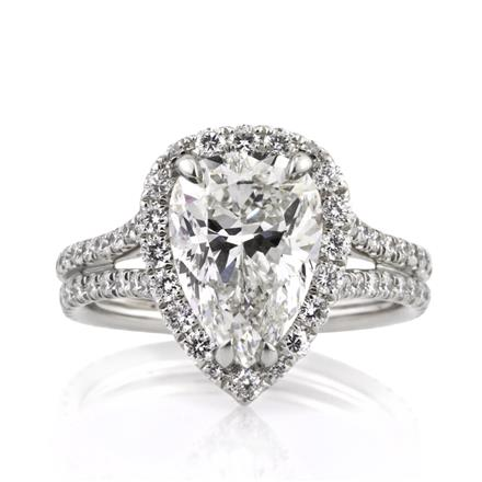 987c53c9d848a 4.66ct Pear Shaped Diamond Engagement Ring
