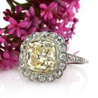 5.53ct Fancy Yellow Old Mine Brilliant Diamond Engagement Ring